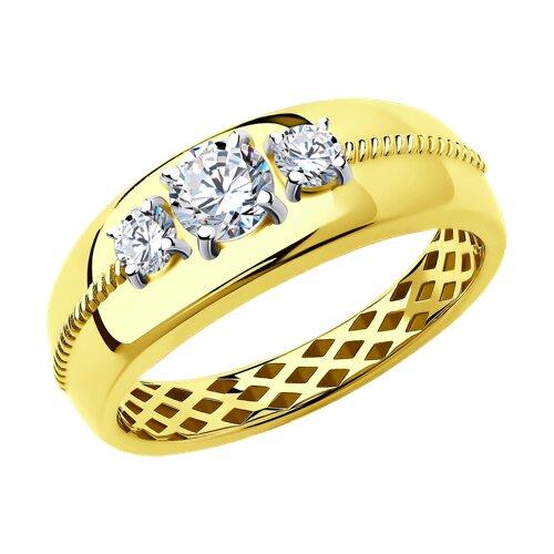 Кольцо из желтого золота (018262-2) - фото