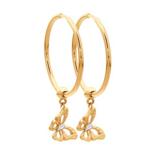 Серьги из золота с алмазной гранью 028006 SOKOLOV фото