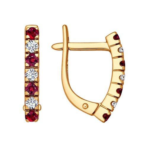 цена на Серьги SOKOLOV из золота с бриллиантами и рубинами