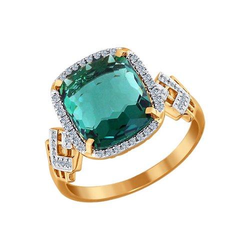 Кольцо SOKOLOV из золота с бриллиантами и кварцем кольцо jv женское золотое кольцо с бриллиантами кварцем и топазами aar 6488 mc yg 16