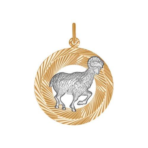 Фото - Подвеска «Знак зодиака Овен» SOKOLOV из комбинированного золота подвеска знак зодиака рак sokolov из комбинированного золота