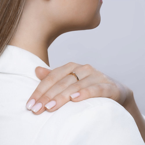 Помолвочное кольцо с бриллиантом 1011497 SOKOLOV фото 4