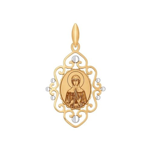 Иконка из золота с ликом Святой мученицы Лидии