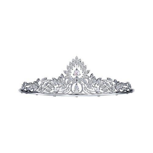 Серебряная корона украшенная фианитами (94250008) - фото