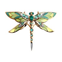 Брошь «Стрекоза» с изумрудами и бриллиантами