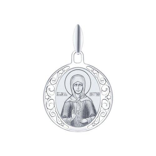 Серебряная иконка «Святая блаженная Матрона Московская»