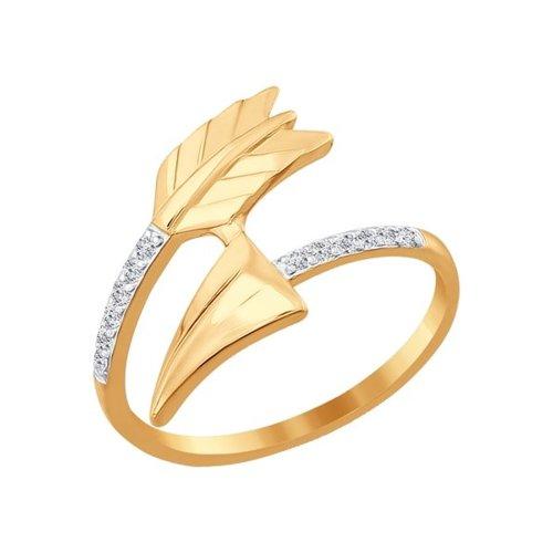 Кольцо SOKOLOV из золота с фианитами золотое кольцо ювелирное изделие 01k623290
