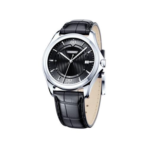 Мужские серебряные часы (135.30.00.000.06.01.3) - фото
