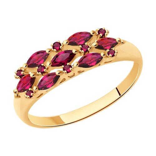 Кольцо из золота с рубинами