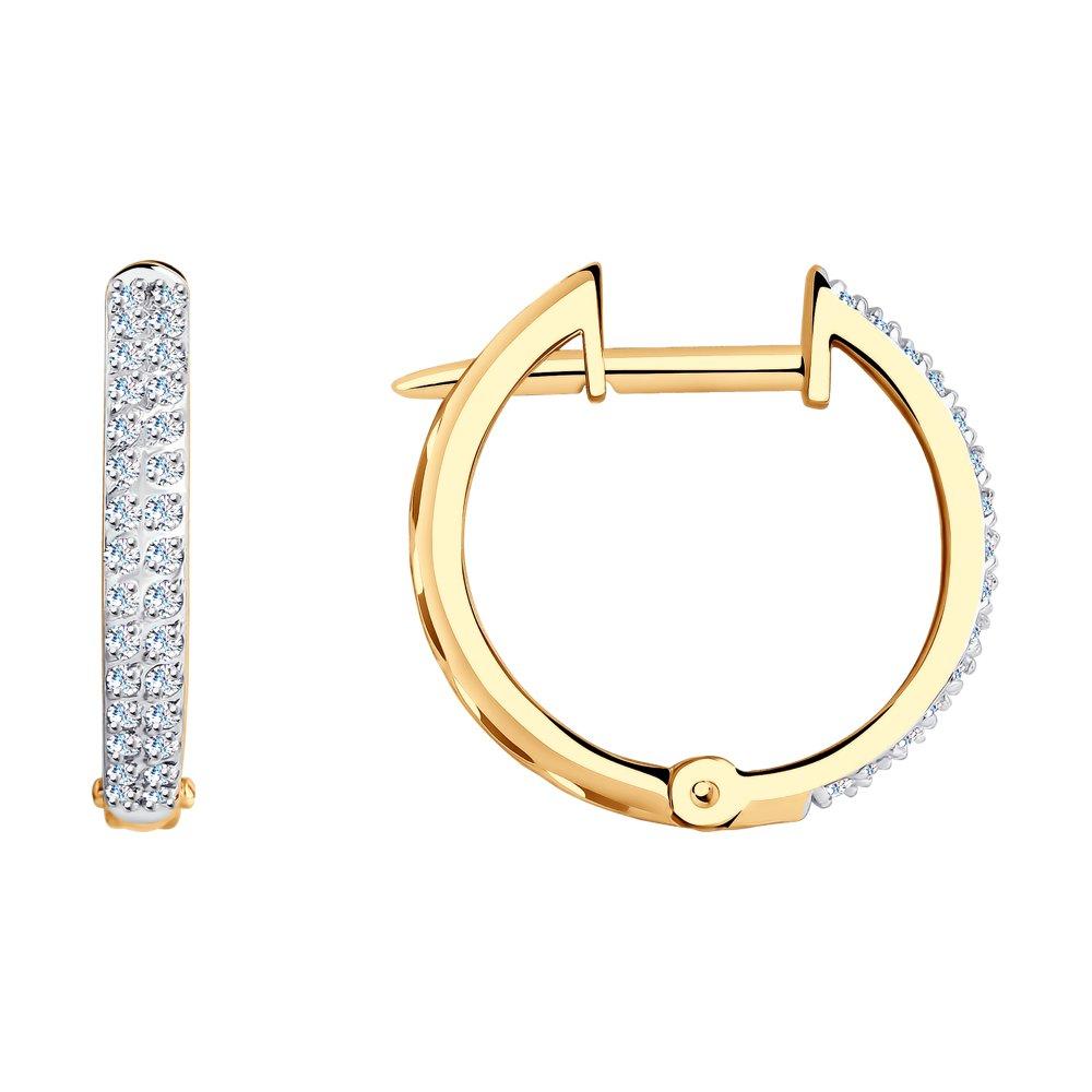 Серьги кольца с бриллиантами SOKOLOV