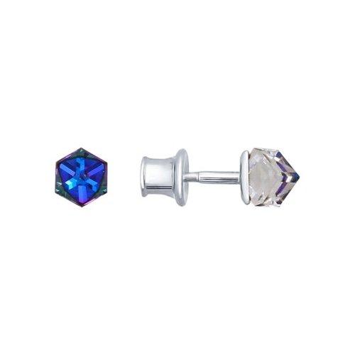 Серьги-пусеты SOKOLOV из серебра с кристаллами swarovski пусеты sokolov из серебра с кристаллами swarovski
