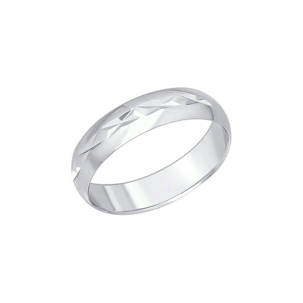Серебряное обручальное кольцо SOKOLOV