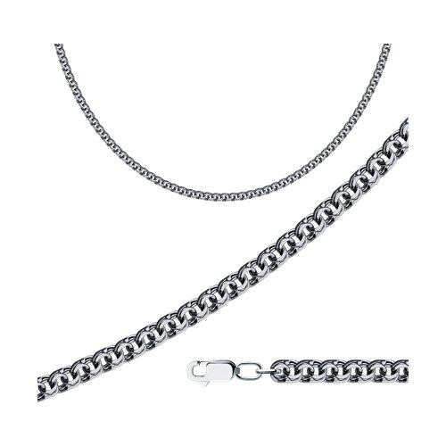 Цепь из чернёного серебра с алмазной гранью