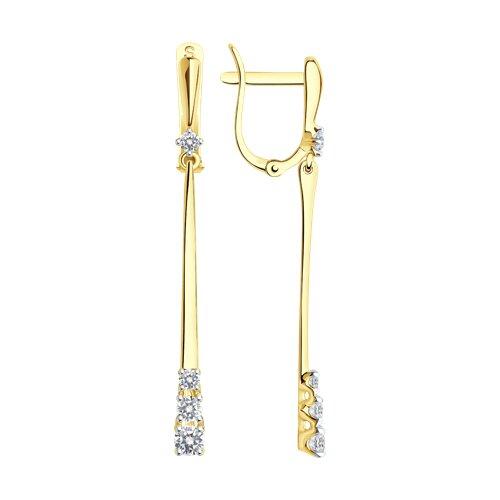 Серьги из желтого золота (81020212-2) - фото