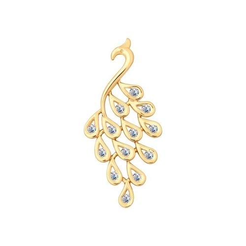 Подвеска «Жар-птица» SOKOLOV из золота с бриллиантами