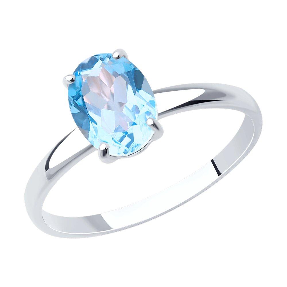 Фото - Кольцо SOKOLOV из белого золота с родированием с топазом maya gemstones кольцо из белого золота с топазом из коллекции secret garden