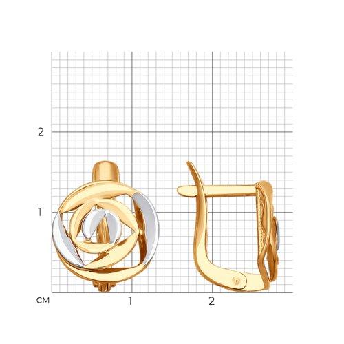 Серьги из золота (027634) - фото №2