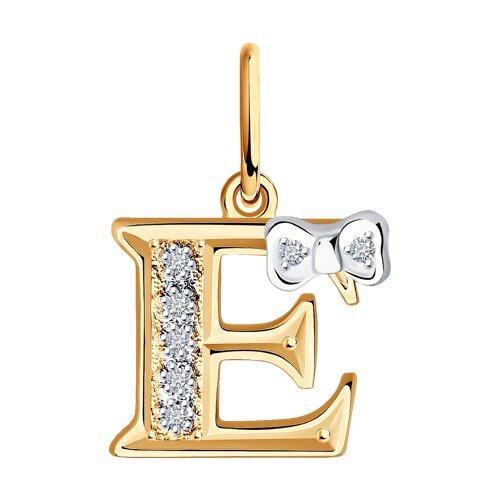 Золотая подвеска-буква «Е»