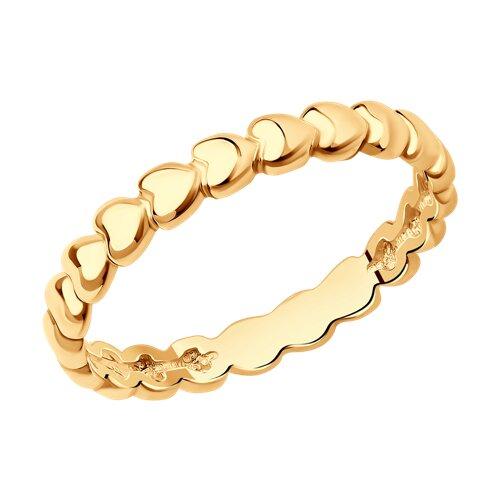 Позолоченное кольцо из серебра