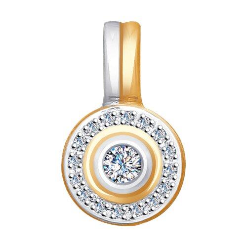 Подвеска из золота с бриллиантами (1030619) - фото