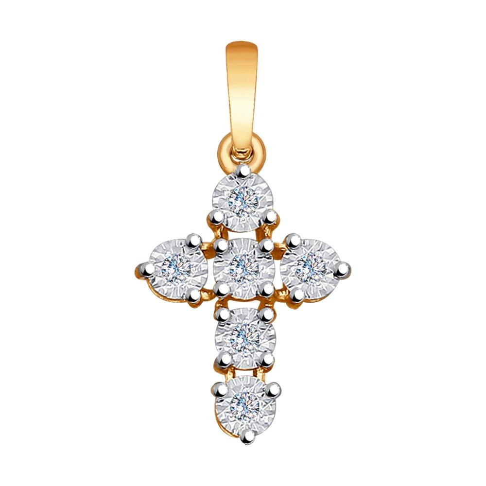 Крест SOKOLOV из золота с бриллиантами фото