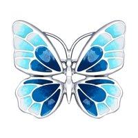 Серебряная брошь в виде бабочки