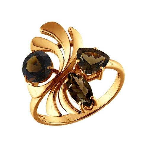 Кольцо SOKOLOV из золота с раухтопазами кольцо из золота с раухтопазами