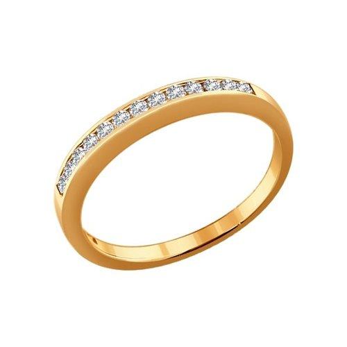 Золотое кольцо с бриллиантовой дорожкой SOKOLOV золотое кольцо love sokolov