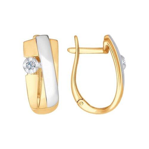 Серьги из золота с бриллиантами (1021053) - фото