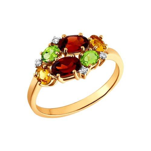 Кольцо с полудрагоценными камнями SOKOLOV