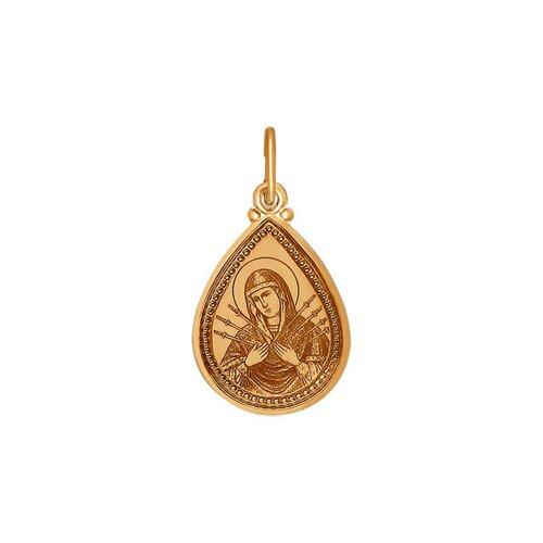 Икона SOKOLOV из золота с ликом « Божьей Матери»