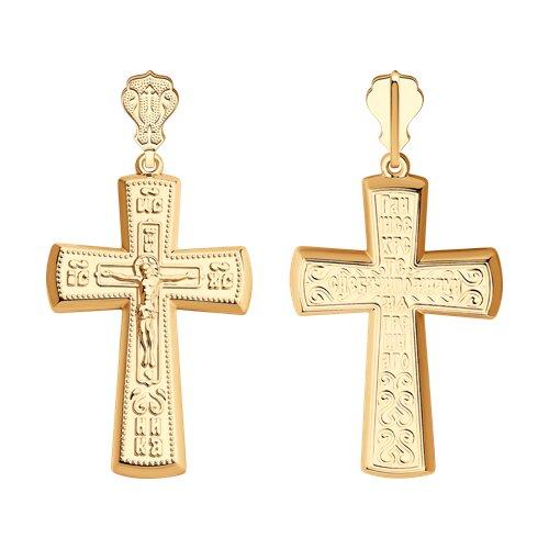Крест из золота 121307 sokolov фото