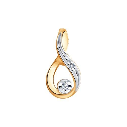 Подвеска из золота с бриллиантами (1030780) - фото