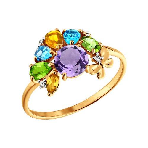 Кольцо SOKOLOV из золота c миксом из камней