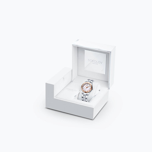 Женские часы из золота и стали (140.01.71.000.02.01.2) - фото №4