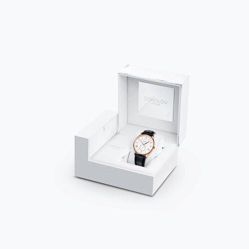 Мужские золотые часы (237.01.00.000.01.01.3) - фото №4
