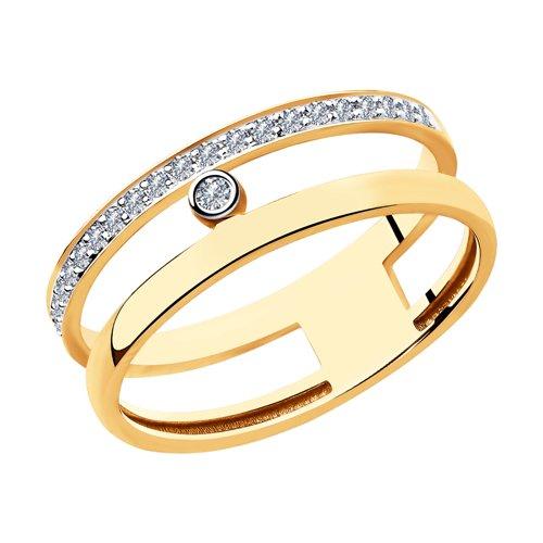 Кольцо из золота с бриллиантами (1011933) - фото