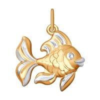 Подвеска «Рыбка» из золота