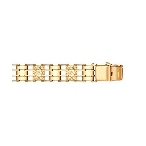 Золотой браслет с алмазной гранью