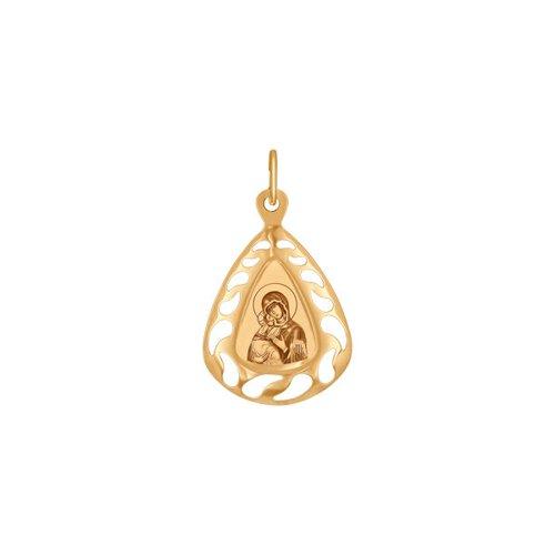 Иконка SOKOLOV из золота с ликом Владимирской Божией Матери