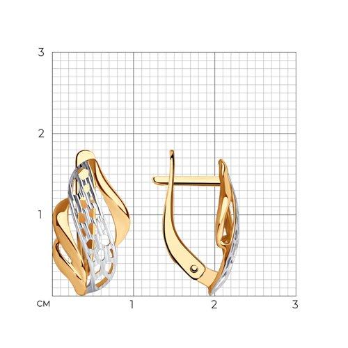Серьги из золота с алмазной гранью (027516) - фото №2
