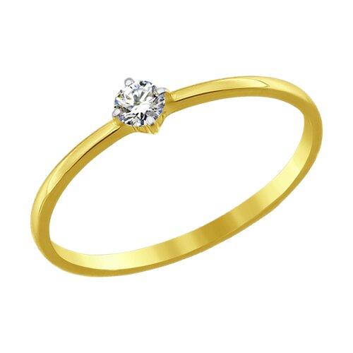 Кольцо из желтого золота (016891-2) - фото