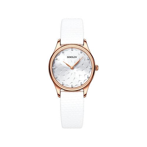 Женские золотые часы (238.01.00.000.08.02.2) - фото №2