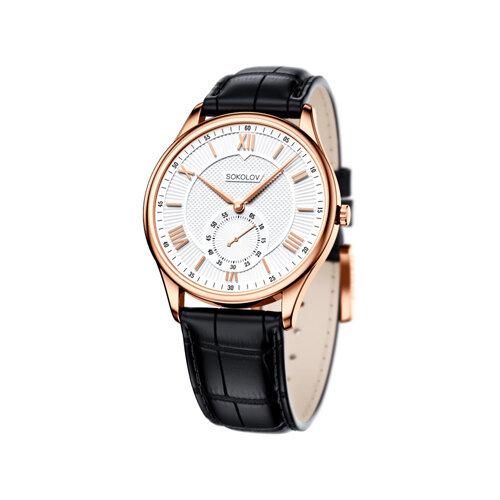 Мужские золотые часы (237.01.00.000.01.01.3) - фото