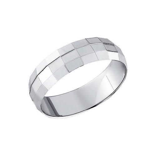 Обручальное кольцо SOKOLOV из серебра с алмазной гранью обручальное кольцо sokolov из золочёного серебра с алмазной гранью