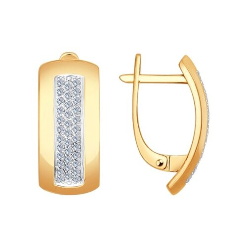 Серьги из золота с бриллиантами (1021001) - фото