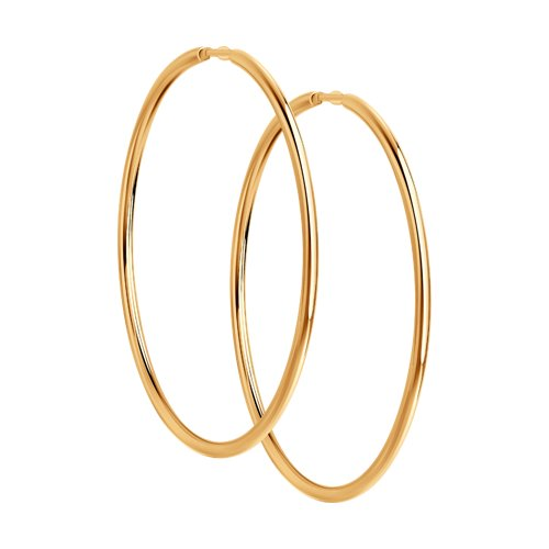 Серьги конго из золота (140003) - фото