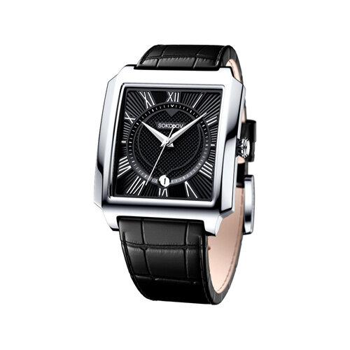 Мужские серебряные часы (134.30.00.000.02.01.3) - фото