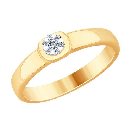 Кольцо из комбинированного золота (1110197) - фото