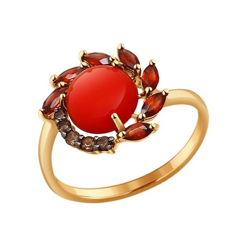 Кольцо SOKOLOV из золота с миксом камней